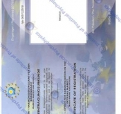 Certificate of registration METATRON TM